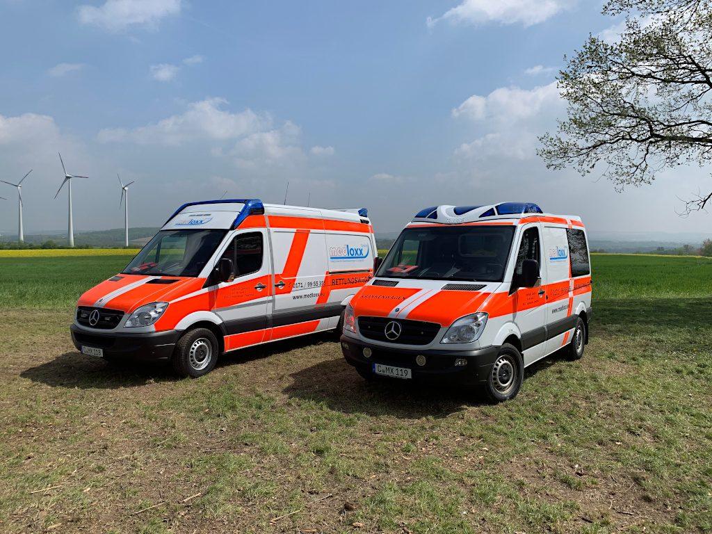 Die Fahrzeuge der medloxx GmbH